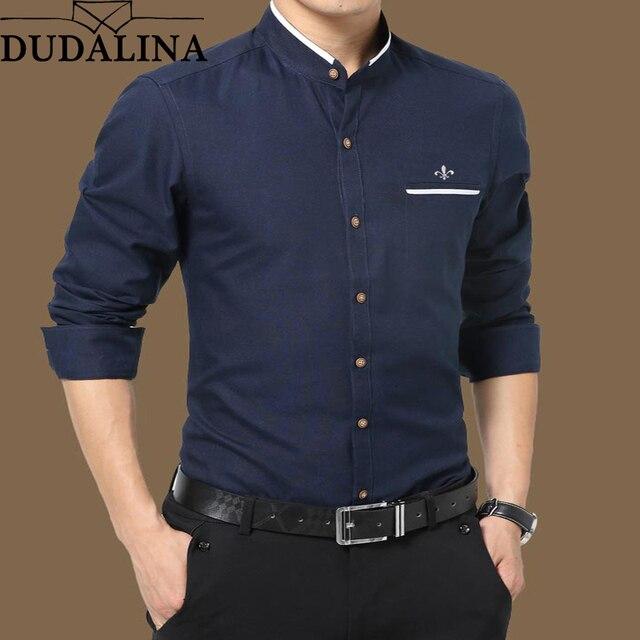 7310eb60d7 Dudalina Oxford Shirt Male 2018 Long Sleeve Men Shirt Casual High Quality  Business Man Shirts Slim Fit Designer Dress
