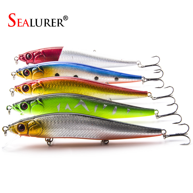 5PCS / Lot Fishing Lure 14cm 23g Hård Plast Minnow Plast Artificiell - Fiske