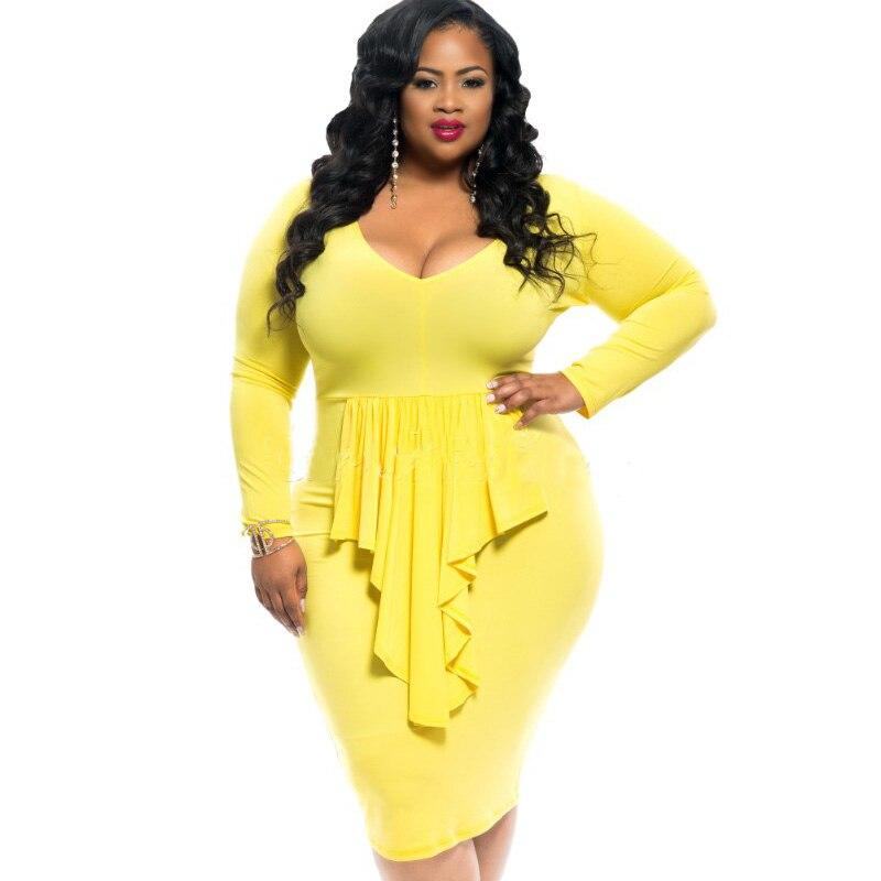 Yellow Dress Plus Size Women