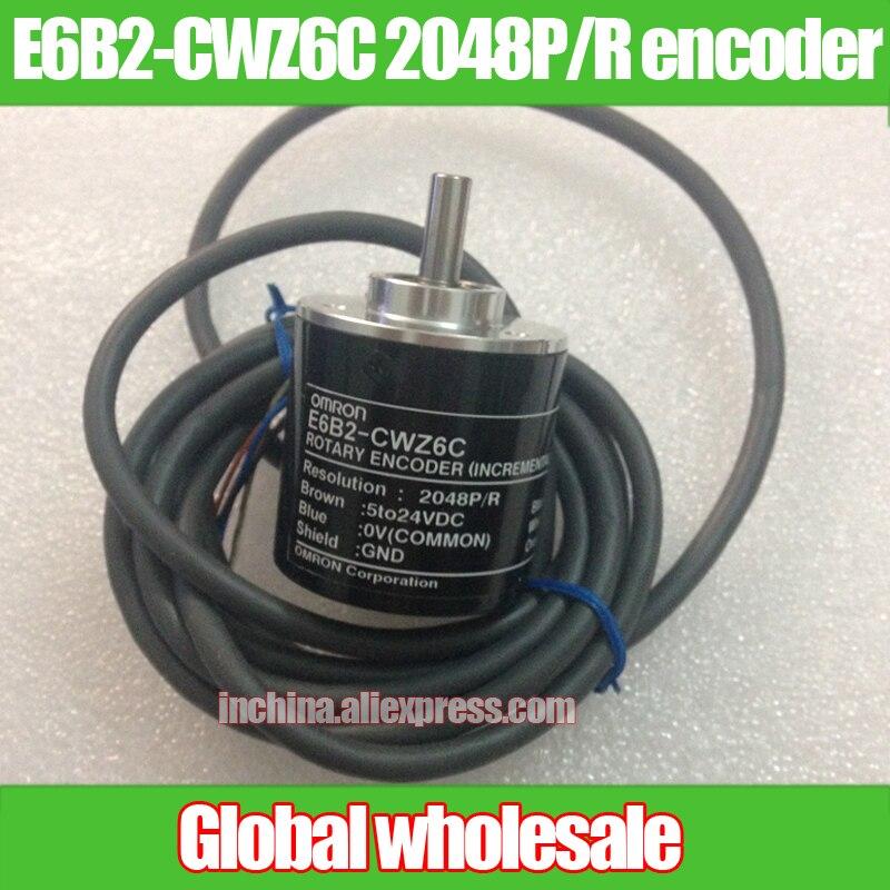 1pcs E6B2 CWZ6C 2048P R encoder for Omron 2048 line of high pulse encoder ABZ 3