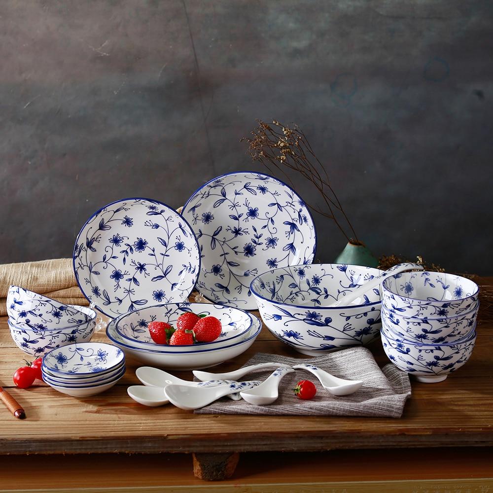 Best Bulk Blue And White Ceramic Kitchen Dinnerware Big
