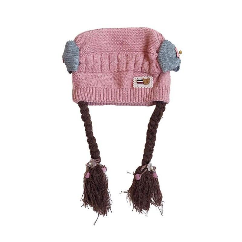 Baby Toddler Kids Boy Girl knit cap beard Crochet Beanie Winter bucket hat Warm Hat Cap fantasia infantil menino