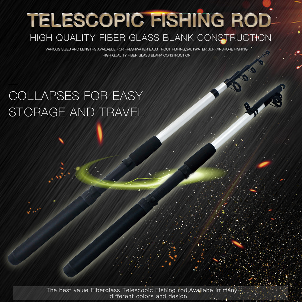 Fishing rod Collapses Travel Spinning Lure Rod Sea Saltwater Pole 1.5M/1.8/2.1M pescaria pecher pesca Fishing Accessories A1