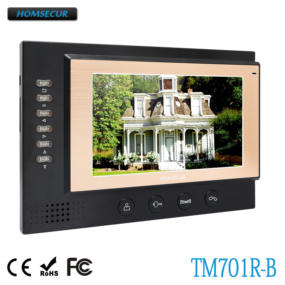 HOMSECUR TM701R-B Indoor Monitor For HDW Wired Video Door Phone Intercom SystemHOMSECUR TM701R-B Indoor Monitor For HDW Wired Video Door Phone Intercom System
