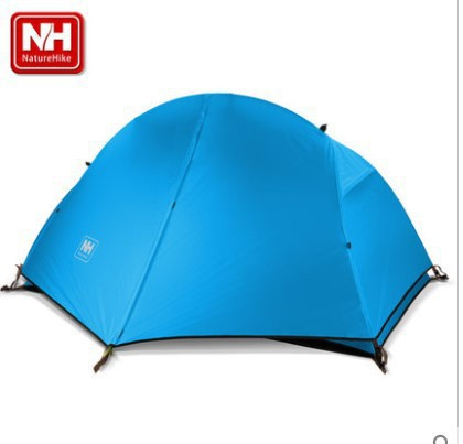 Naturehike lightweight single-person aluminum pole double layer camping tent with ground mat nh naturehike high quality 2persons classical professional ultra light aluminum pole camping tent with the bottom mat
