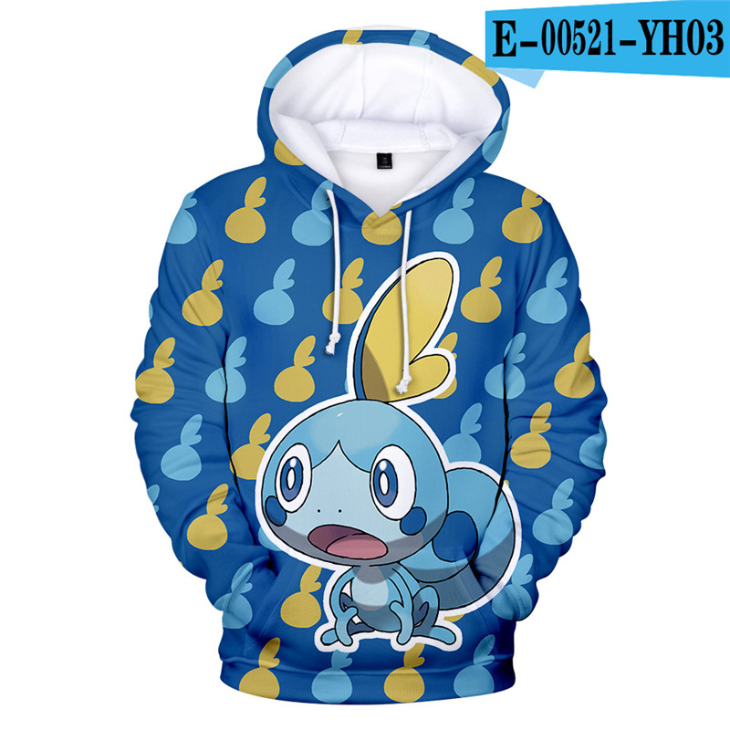 Cartoon Hoodie Pokemon Sweatshirt Hooded Tracksuit Game Streetwear Causal Game Clothings Children Clothing Popular Clothes Kids