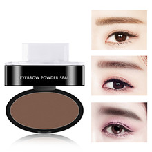 Lazy Quick Eyebrow Stamp Seal Tint Waterproof Long lasting Eyes Brow Shadows Set Natural Shape Punch For Eyebrows Powder Palette