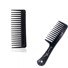2 Types New Portable Black Wide Tooth Comb Black ABS Plastic Heat resistant Large Wide Tooth Comb For Hair Styling Tool