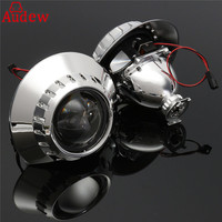 2Pcs 25 Headlight Projector Lens Retrofit H1 Xenon For HID Left Right Side Headlight Assmbely For