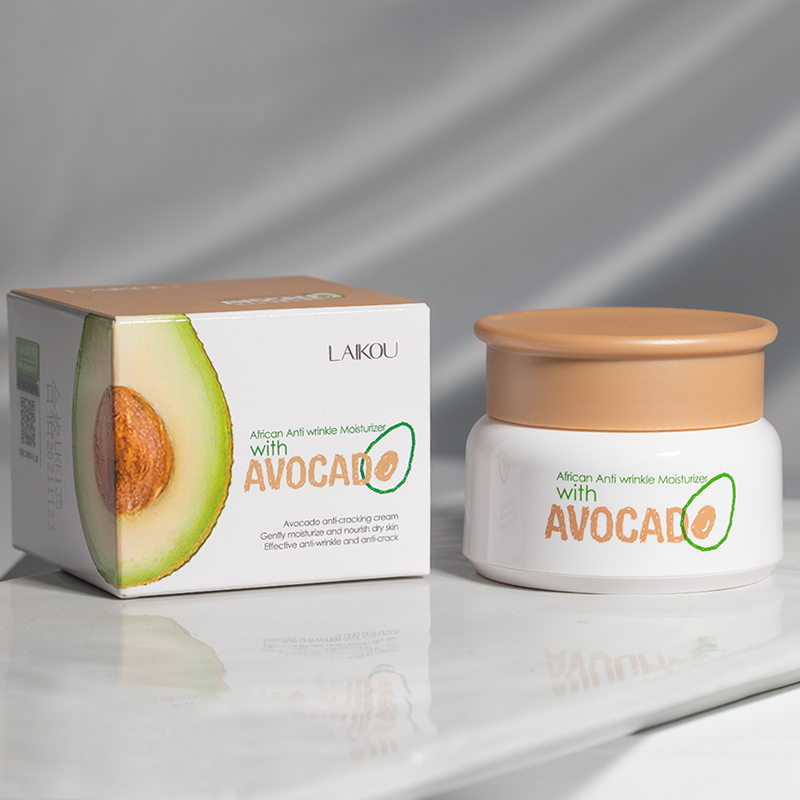 100% Original LAIKOU African Anti-Wrinkle Moisturizer With Avocado Improve The Dry Skin Deep Hydrating Face Cream Skin Care 35g image