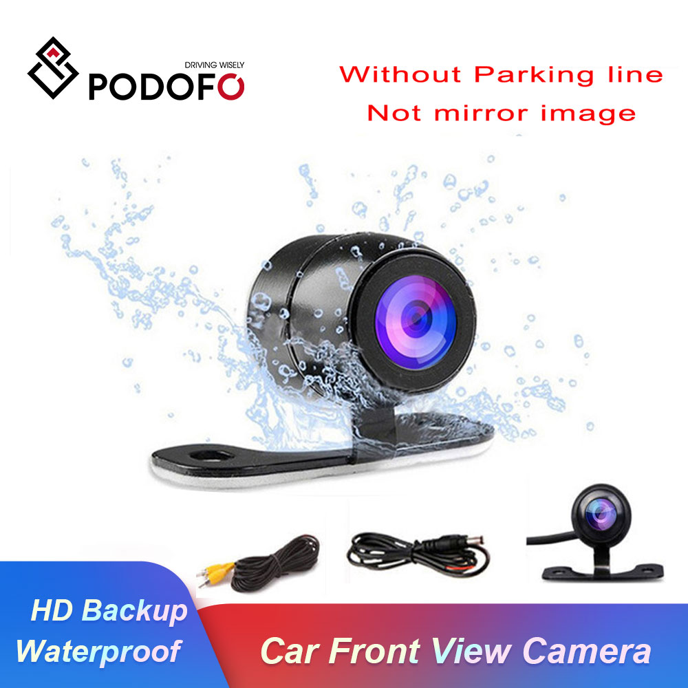 Podofo Auto CCD HD Car Front View Camera Backup Rear View Camera Rear Monitor Parking Assistance Waterproof Camera Reverse