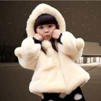 winter girls jacekt baby jacket fake fur kids clothes for girl woollen coats baby infant girls coat white red princess costume