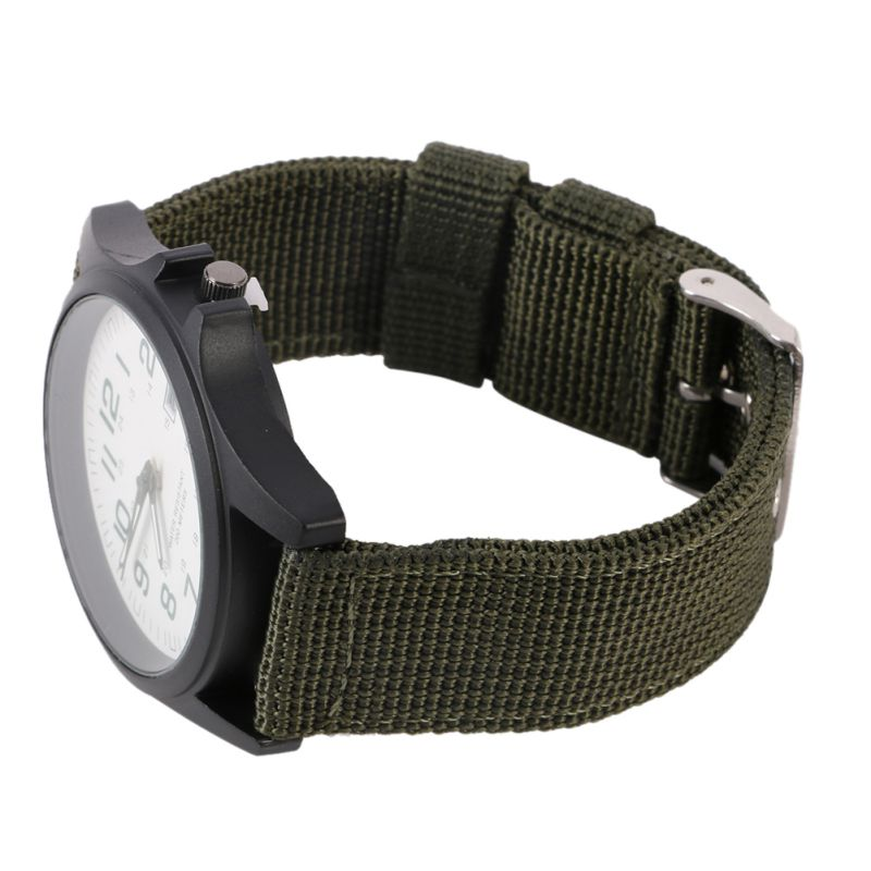 3 kleuren Solider Military Army Watch Heren Sport Style Canvas riem - Herenhorloges - Foto 5