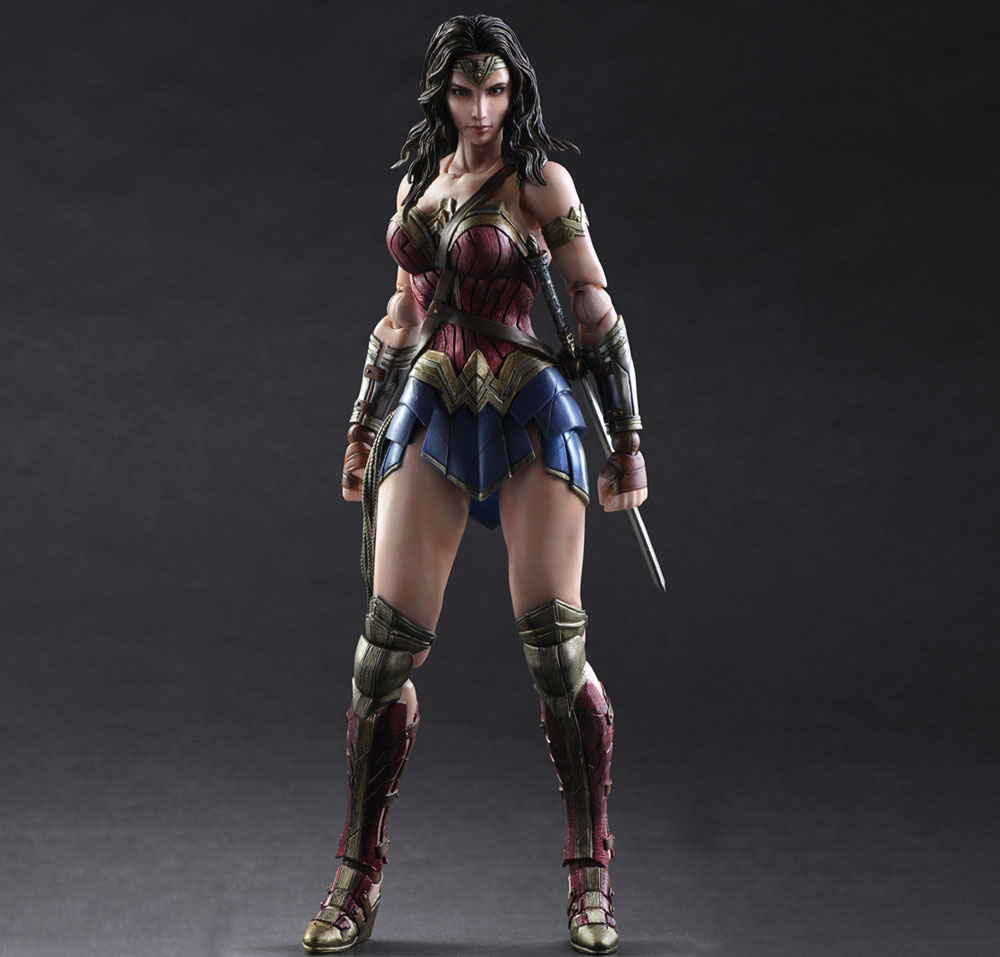 Free Shipping 10 PA KAI Batman v Superman Dawn of Justice Wonder Woman Boxed 25cm PVC Action Figure Collection Model Doll xinduplan dc comics play arts kai justice league batman reloading dawn justice action figure toys 25cm collection model 0637