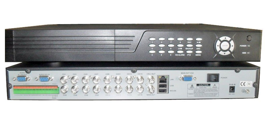 16 Ch H 264 Network Digital Video Recorder Dvr  Real Time Preview And Recording Multi Functions