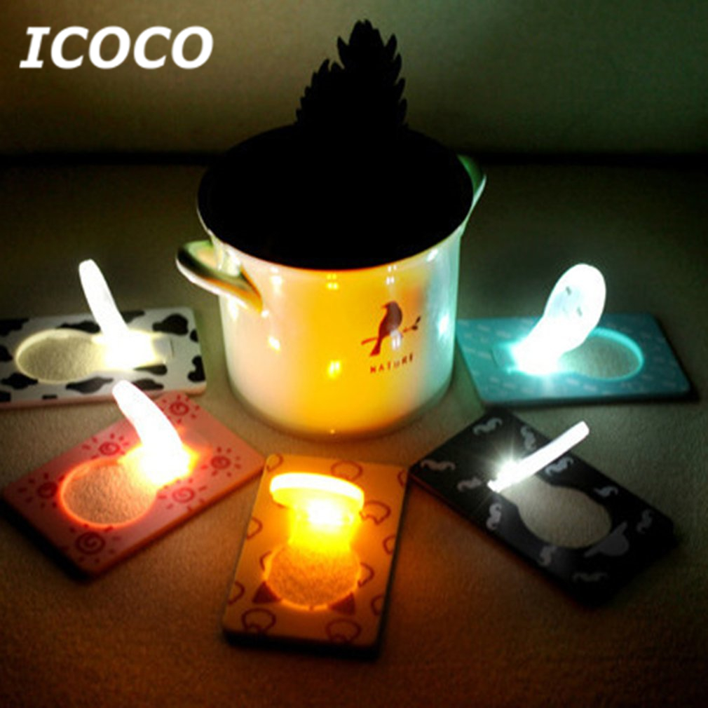 1pcs Mini Foldable Led Card Night Light Cartoon Mood Lamp Battery Operated Drop Shipping 11 Pattern 11 Colors Led Lamps Lights & Lighting