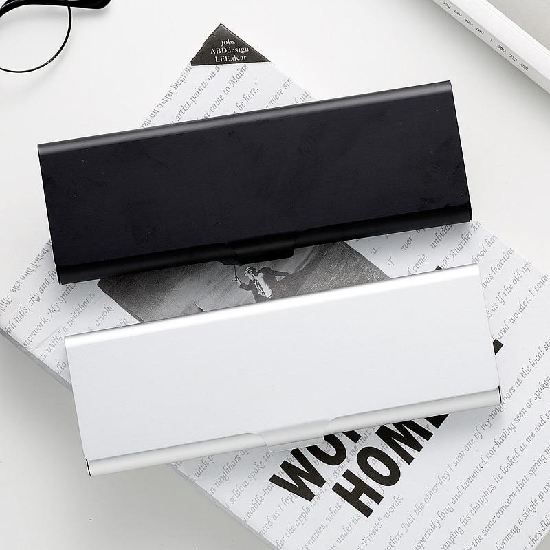 Simple Black White Pen Box Metal Pencil Box Japanese Aluminum Sketch Pen Box 1PCS black box 74082