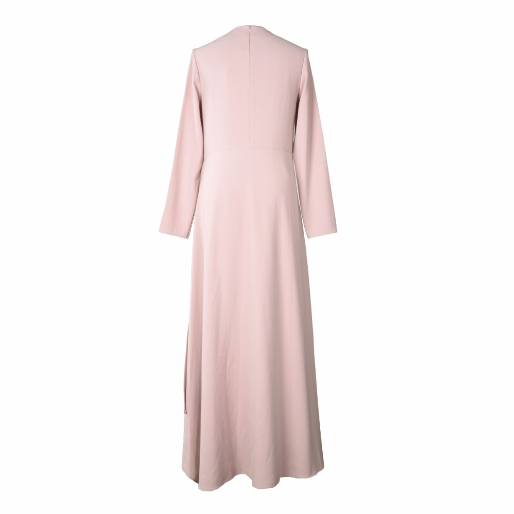 À 2018 Femmes Vêtements Manches Turc Robe Slim Mode Robes Naked Maxi Automne Rose Lsysag Pink Longues Lâche Ol Grande Femme Taille 7x0dwqq