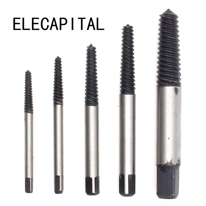 5Pcs/Set Damaged Broken Screws Extractor Removal Tool Damaged Bolts Screws Drill Bits Screw Drivers screw extractor