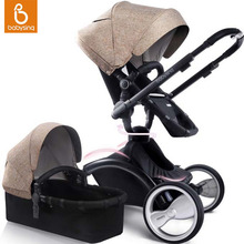 Babysing Baby Stroller 2 in 1 Luxury High Landscape Travel System Baby Pram 360 Rotation Pushchair with Bassinet