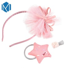 M MISM Top sale Princess Hairband& hairpins& Scrunchy Set Tinkling Headband Crown Star Children Hair Accessories