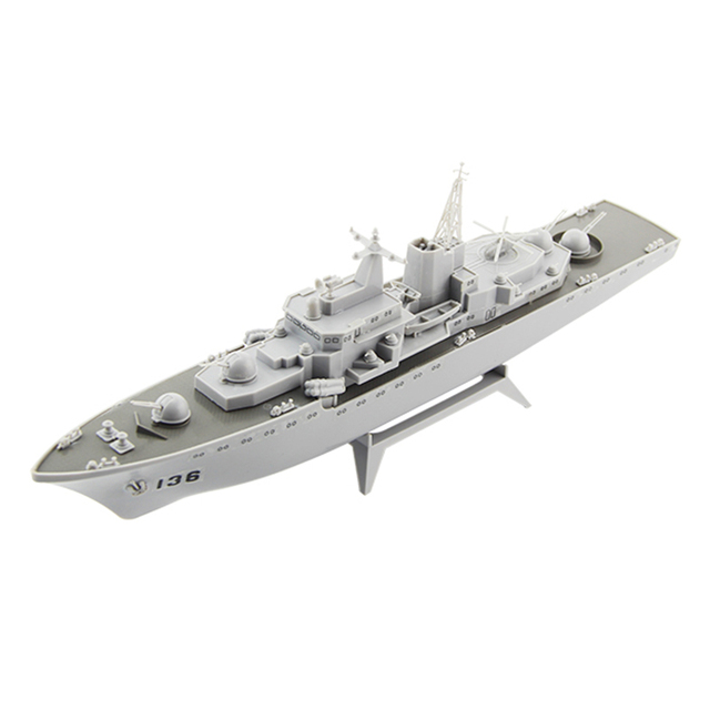 Free shipping Hangzhou Guided Missile Destroyer Electric Powered Battle Ship Warship Model DIY Educational Toys children gifts