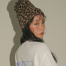 hot deal buy winter leopard hat women men ladies knitting beanies fashion hat 2018 new outdoor hip hop cap leopard beanie warm knitted caps