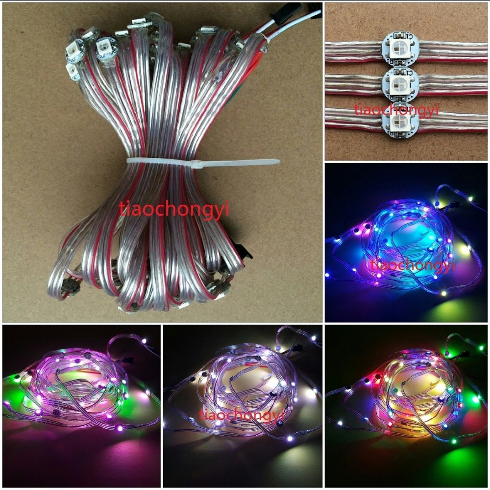 10~1000x WS2812B Pre-wired LED Pixel Module String Light Full Color 5050 RGB 5V xd 39b 5050 full color led module