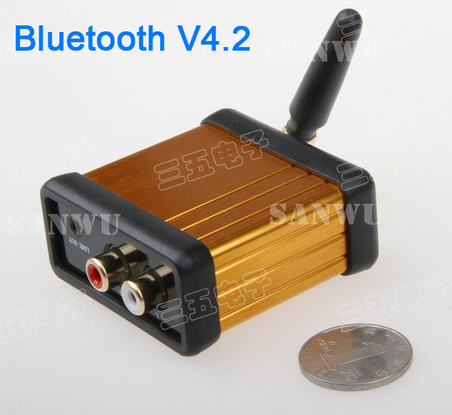 CSR64215 HiFi Bluetooth v4.2 Audio Receiver Box support APTX For Car Amplifier Speaker Modify 3.5 headphones stereo audio