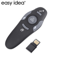 Hot Sale 2 4GHz USB Wireless Presenter With Red Laser Pointers Pen RF Remote Control PowerPoint