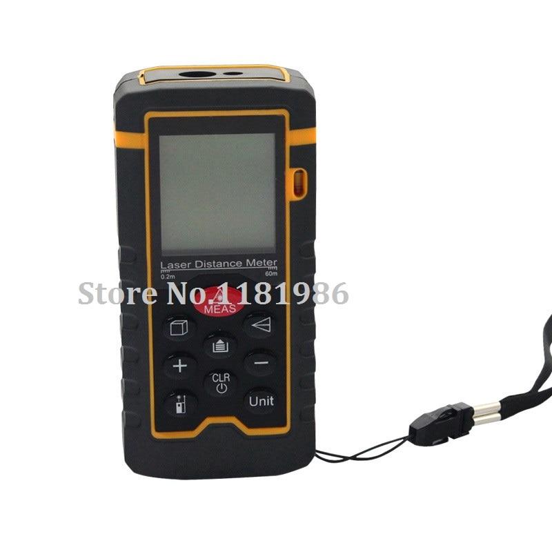60m 197ft HT-60 Laser Distance Meter Measuring Tool Rangefinder Tape Measure Area/Volume Range Finder with Painter Function  цены