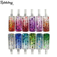 12pots Set Mix DIfferent Size Glitter Dust Nail Powder Nail Decoration Glitter Nail Glitter Powder For