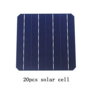 Image 2 - Kit 20 Pz Monocrystall Celle Solari Pannello Solare FAI DA TE 6x6 Con 20 M Tabulazione Filo 2 M Sbarre Penna Flusso filo e 1 Pz