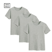Top T Shirts Men Solid Casual Broadcloth Cotton T Shirt Men O Neck Plus Size Short