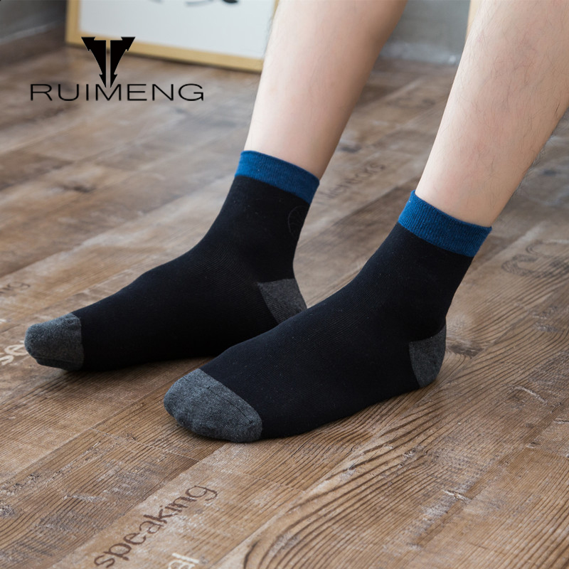 High Quality Casual Mens Business Socks For Four Seasons Men Cotton Brand Ankle Socks Hand Made Breathable 6 Pairs Big Size