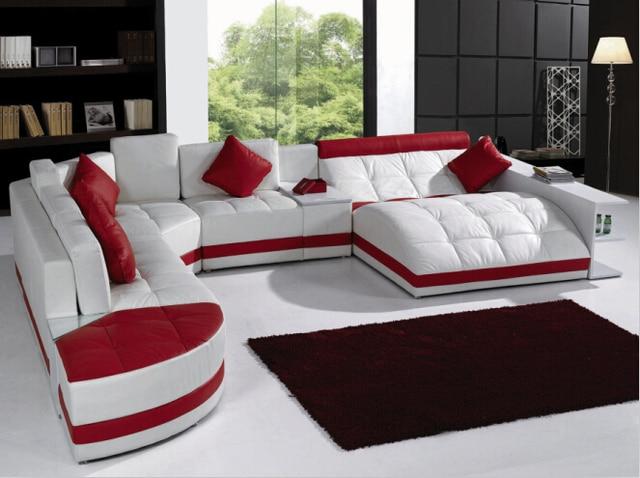 Sof s para sala de estar com sof de canto de couro para for Imagenes de sofas modernos