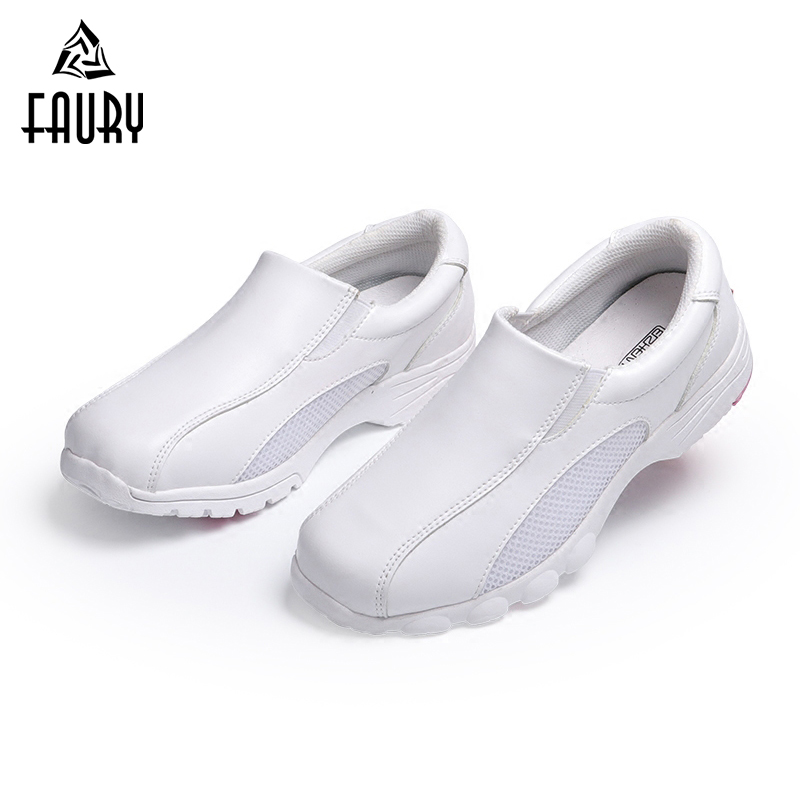 2018 New Nurse Ultralight Work Shoes White Flat Breathable Mesh Soft Shoes For Pregnant Women Doctor Hospital Medical Footwear
