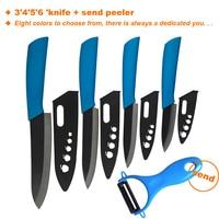The Latest Color Ceramic Knife Set Series Black Blade Color Handle 3 4 5 6