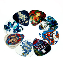 SOACH 50pcs Bass Guitar picks pick Plucked Instrumento Accessories Guitarra Acoustic guitar ukulele Parts Buddha and dragon