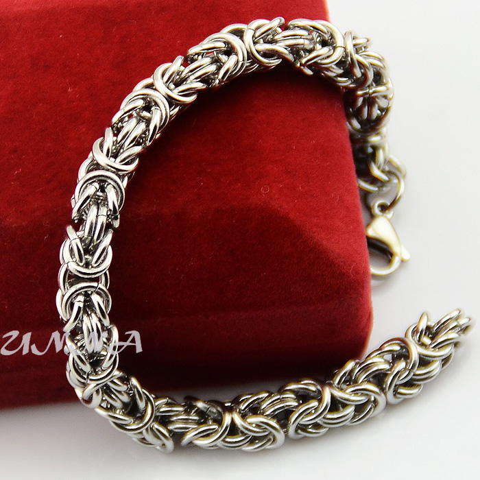 Chunky 7mm 316l Stainless Steel Link Byzantine Bracelets Chains For Men Women 7inch 11inch Jewelry In Chain From Accessories On