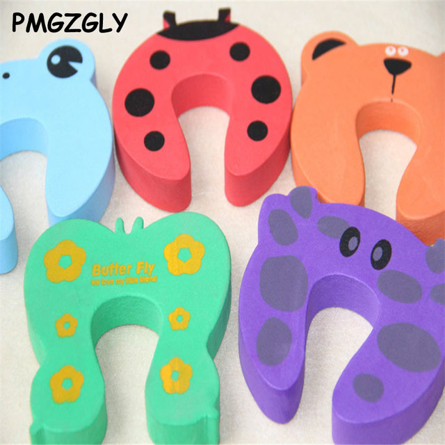 Baby Helper Safety Protector Doorway 5pcs Kids Cartoon Door Stoper Child Safety Guard Finger Protect Baby Animal Jammers Infant