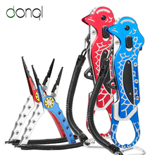 DONQL Multifunctional Fishing Lip Grip Pliers Line Cutter Hooks Remover Scissors for Fishing Clamp High Quality Fish Grip Tools