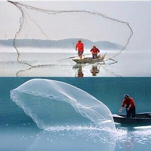 Image 1 - 12Ft 3.6M Lưới Đánh Cá Mồi Dễ Dàng Ném Gang Tay Mạnh Mẽ Lưới Nylon Chì Lưới