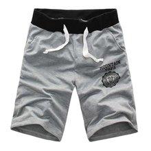 Jogger фитнес-тренировки тренировочные упражнение эластичный случайные пояс короткие шорты брюки мужчины