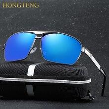 HONGTENG Aluminum Magnesium Men's Sunglasses Polarized Blue Coating Mirror Sun Glasses oculos Male Eyewear Accessories Men
