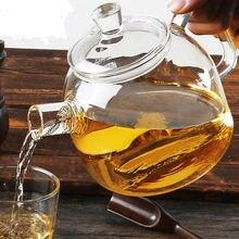 лучшая цена 900ml handmade glass teapot flower tea pot kettle With glass lid