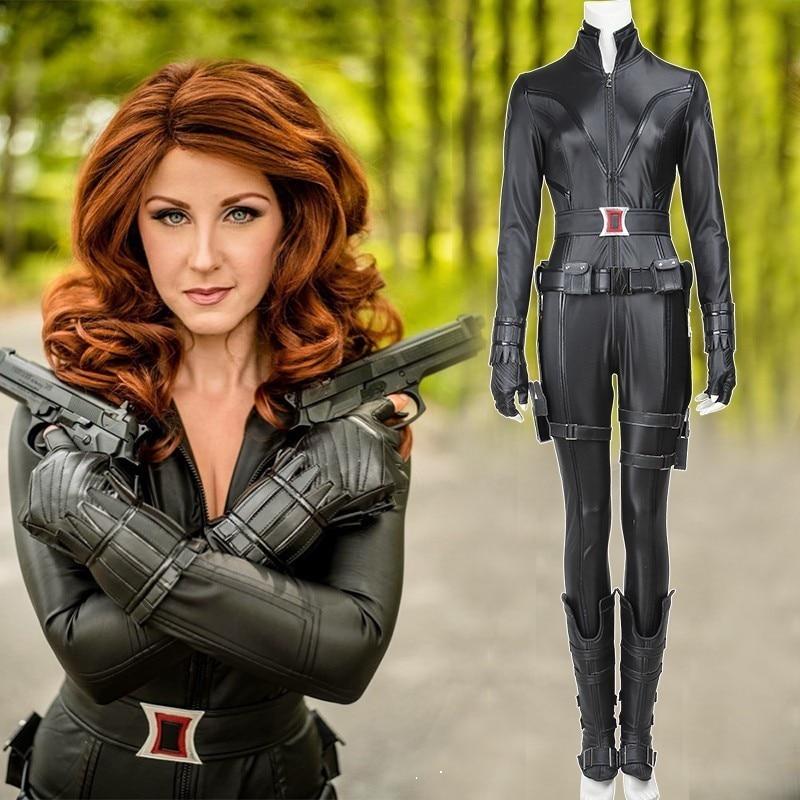 Halloween Marvel Avenger Cosplay Black Widow Natasha Superhero Women Costume