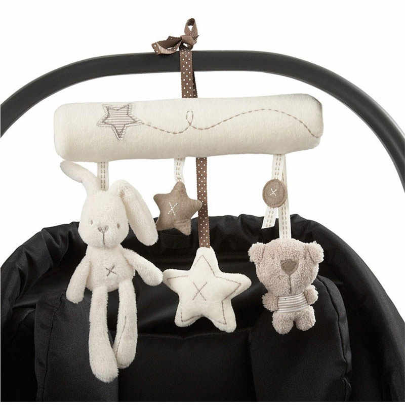Infant Toddler Rattles Toys For Baby Stroller Crib Soft Rabbit Bear Style Pram Hanging Toys Plush Appease Doll Bed Accessories