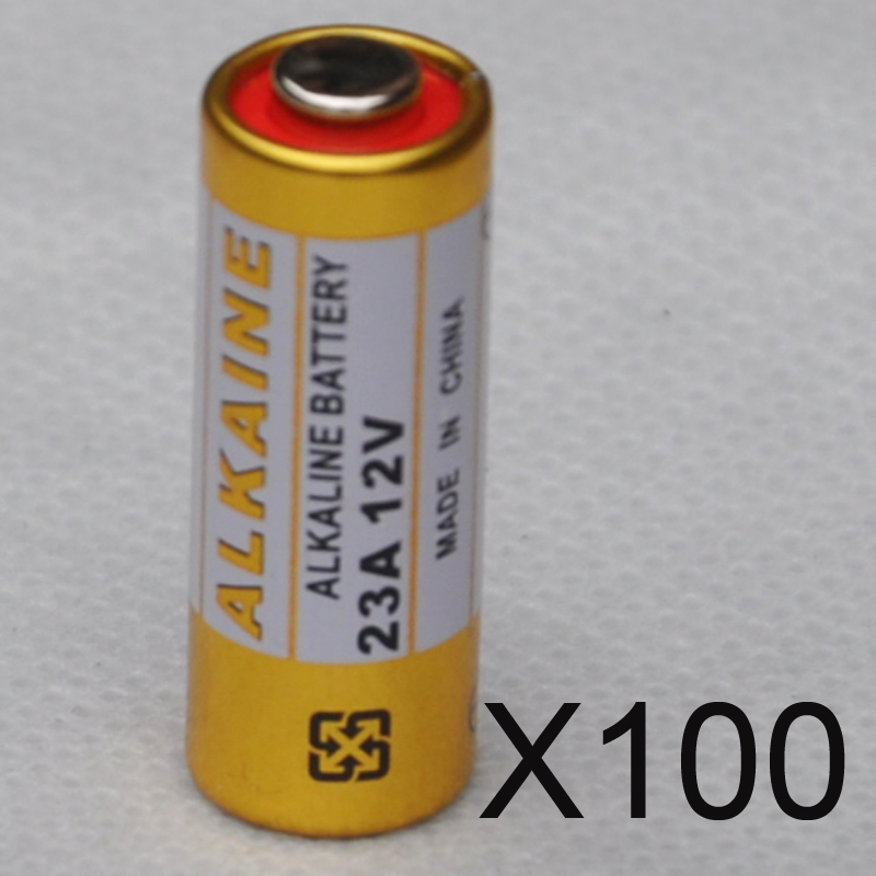 100 шт. <font><b>23a</b></font> 12 В сухой щелочные батареи 23AE 21/23 A23 23GA mn21 для дверной звонок, сигнализация, walkman, автомобиль пульт дистанционного управления и т. д.