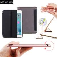 Nice Full Body Protection Slim Flip Thin Magnetic Leather Smart Case For Apple Ipad Mini 4